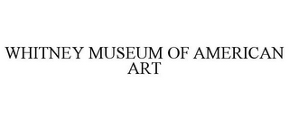mark for WHITNEY MUSEUM OF AMERICAN ART, trademark #77099308