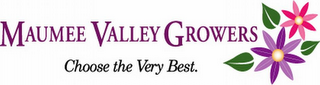 mark for MAUMEE VALLEY GROWERS CHOOSE THE VERY BEST., trademark #77101661