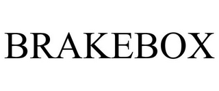 mark for BRAKEBOX, trademark #77103924