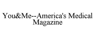 mark for YOU&ME--AMERICA'S MEDICAL MAGAZINE, trademark #77104486