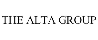 mark for THE ALTA GROUP, trademark #77107563