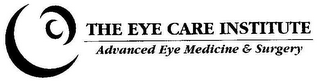 mark for THE EYE CARE INSTITUTE ADVANCED EYE MEDICINE & SURGERY, trademark #77110660