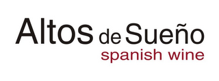 mark for ALTOS DE SUEÑO SPANISH WINE, trademark #77114124