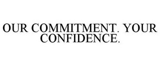 mark for OUR COMMITMENT. YOUR CONFIDENCE., trademark #77118948