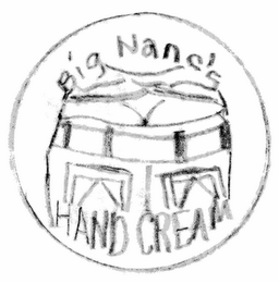 mark for BIG NANC'S  HAND CREAM, trademark #77122738