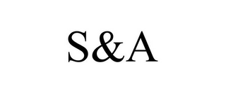 mark for S&A, trademark #77127698