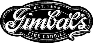 mark for GIMBAL'S FINE CANDIES EST. 1898, trademark #77129703