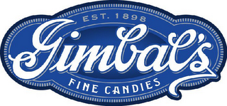 mark for GIMBAL'S FINE CANDIES EST. 1898, trademark #77129749