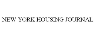 mark for NEW YORK HOUSING JOURNAL, trademark #77133297