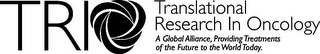 mark for TRIO TRANSLATIONAL RESEARCH IN ONCOLOGY A GLOBAL ALLIANCE, PROVIDING TREATMENTS OF THE FUTURE TO THE WORLD TODAY, trademark #77138057