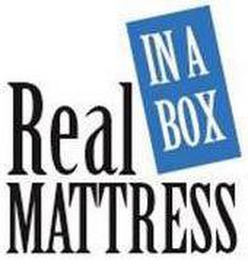 mark for REAL MATTRESS IN A BOX, trademark #77138789
