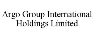 mark for ARGO GROUP INTERNATIONAL HOLDINGS LIMITED, trademark #77139504