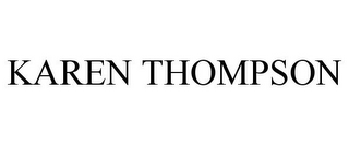 mark for KAREN THOMPSON, trademark #77141439