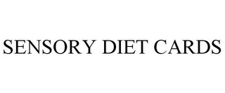 mark for SENSORY DIET CARDS, trademark #77142140