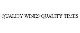mark for QUALITY WINES QUALITY TIMES, trademark #77144925