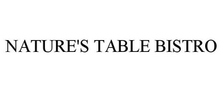 mark for NATURE'S TABLE BISTRO, trademark #77146306