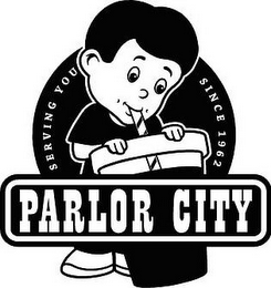mark for PARLOR CITY - SERVING YOU SINCE 1962, trademark #77147454