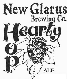 mark for NEW GLARUS BREWING CO. HOP HEARTY ALE, trademark #77148650