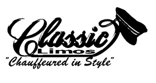 "mark for CLASSIC LIMOS ""CHAUFFEURED IN STYLE"", trademark #77149410"
