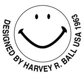 mark for DESIGNED BY HARVEY R. BALL USA 1963, trademark #77150296