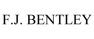 mark for F.J. BENTLEY, trademark #77152471