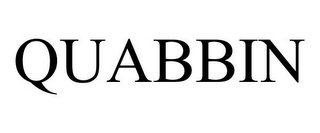 mark for QUABBIN, trademark #77153610