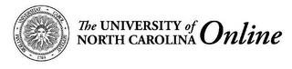mark for THE UNIVERSITY OF NORTH CAROLINA ONLINE SIGILLVM VNIVERSITAT CAROL SEPTENT 1789, trademark #77155241