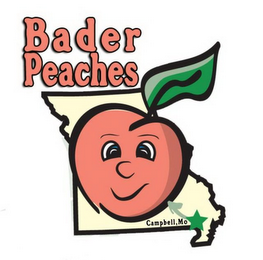 mark for BADER PEACHES CAMPBELL, MO, trademark #77156349