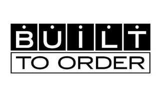 mark for BUILT TO ORDER, trademark #77159476