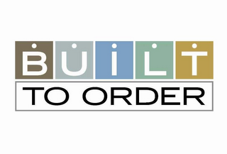 mark for BUILT TO ORDER, trademark #77159480