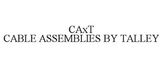 mark for CAXT CABLE ASSEMBLIES BY TALLEY, trademark #77165959