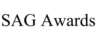 mark for SAG AWARDS, trademark #77167524