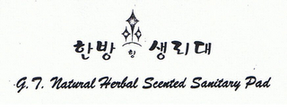 mark for G.T. NATURAL HERBAL SCENTED SANITARY PAD, trademark #77168511