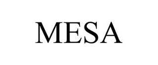 mark for MESA, trademark #77174489
