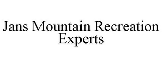 mark for JANS MOUNTAIN RECREATION EXPERTS, trademark #77175396