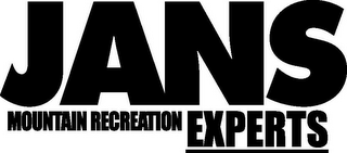 mark for JANS MOUNTAIN RECREATION EXPERTS, trademark #77175526