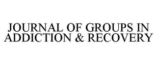 mark for JOURNAL OF GROUPS IN ADDICTION & RECOVERY, trademark #77177342
