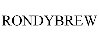 mark for RONDYBREW, trademark #77178400
