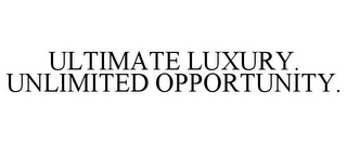 mark for ULTIMATE LUXURY. UNLIMITED OPPORTUNITY., trademark #77178425