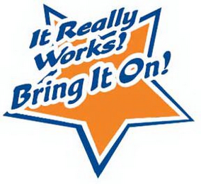 mark for BRING IT ON! IT REALLY WORKS!, trademark #77178889