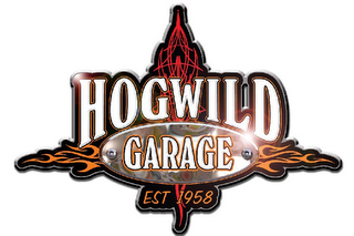 mark for HOGWILD GARAGE EST 1958, trademark #77182984