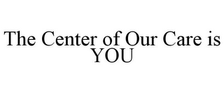 mark for THE CENTER OF OUR CARE IS YOU, trademark #77183393