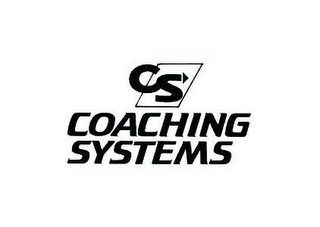 mark for CS COACHING SYSTEMS, trademark #77187136