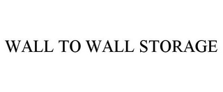 mark for WALL TO WALL STORAGE, trademark #77190716