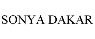 mark for SONYA DAKAR, trademark #77192492