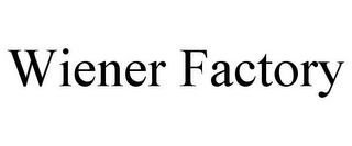 mark for WIENER FACTORY, trademark #77196407