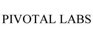 mark for PIVOTAL LABS, trademark #77199775