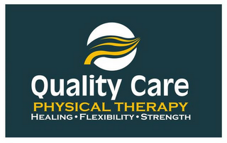 mark for QUALITY CARE PHYSICAL THERAPY HEALING FLEXIBILITY STRENGTH, trademark #77201790