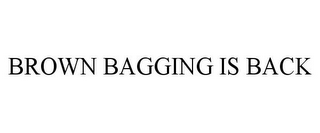 mark for BROWN BAGGING IS BACK, trademark #77206930