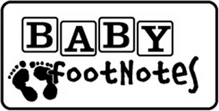 mark for BABY FOOTNOTES, trademark #77207278